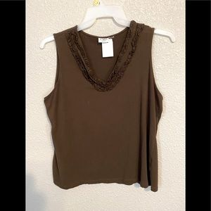 Cato Fashions Beautiful Brown Top Size L